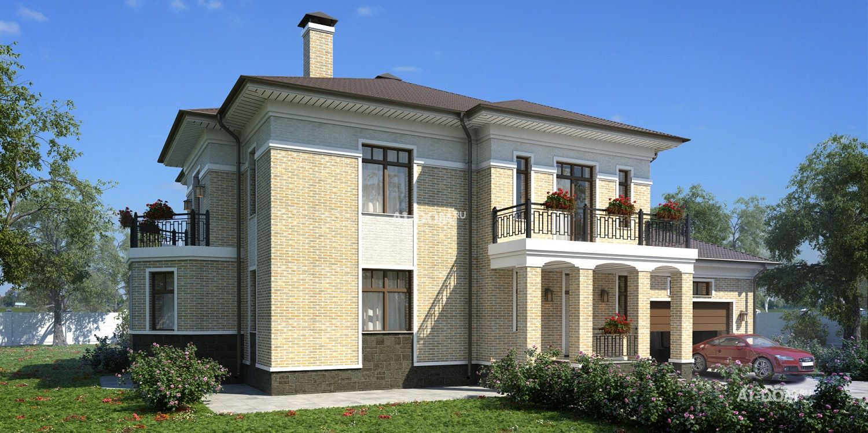"""Проект двухэтажного дома с бассейном """"шербон"""" в санкт-петерб."""